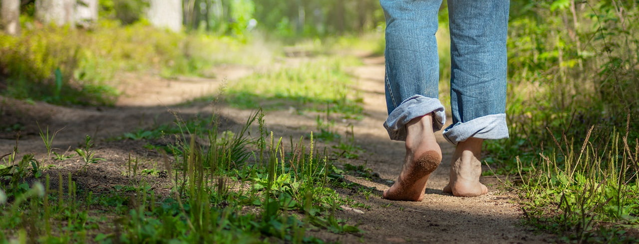 Going barefoot has benefits